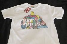 Protect Your Beach Mens T-shirt XL Palmer Cash White Environmental New