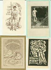 8 Ex libris Art Deco erotic man s nudes Exlibris by V. artist / Europe