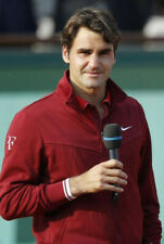 Nike Roger Federer Extremely Rare 2011 French Open Jacket. Ruby Red