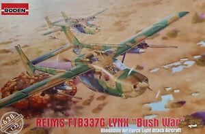 "Roden 628 1:32nd scale Reims FTB337G Lynx ""Bush War"" Rhodesian Air force"