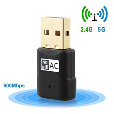 Mini USB WiFi Adapter Dual Band 600Mbps Wireless Network Dongle for PC Windows