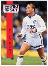 David BATTY Leeds United #93 Pro Set FOOTBALL 1990-1 TRADE card (c363)