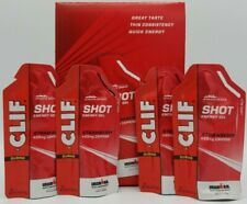 24 CLIF Energy Gel Shots Strawberry With Caffeine Workout Exercise Exp 12/2020