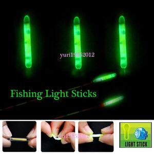 100pcs Fishing Night Fluorescent Light Float Glow Stick Light Sticks 4.5*37mm