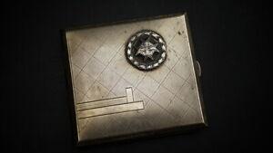 WK1 Flieger Pour le Merite Zigarettenbox, Alpacka, selten