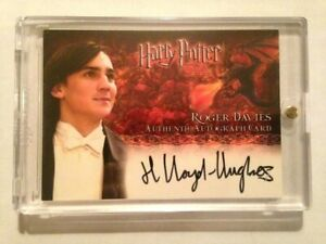 HARRY POTTER GOBLET OF FIRE AUTOGRAPH CARD Henry Lloyd-Hughes Roger Davies AUTO