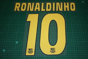 Flocage RONALDINHO n°10 Barcelone patch Barcelona shirt maillot