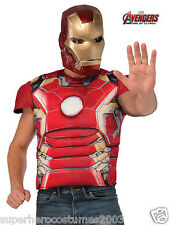 Avengers Age Of Ultron Iron Man Muscle Top Adult Costume Brand New - 810298