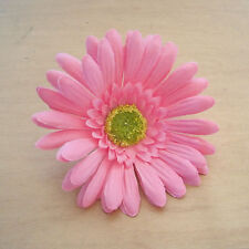 "4.5"" Pink Gerbera Daisy Silk Flower Hair Clip, Wedding, Prom, Dance,Bridal"