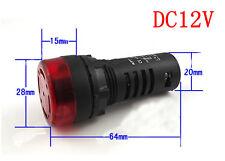 2Pcs Buzzer AD16-22SM  Red Bulb DC12V  Flash Buzzer Acousto-optica Alarm AK