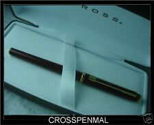 CROSS MADE IN THE USA SIGNATURE LACQUER & XF SOLID 18K NIB FOUNTAIN PEN
