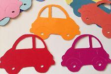 "BEETLE CAR Die-Cuts Aprox.3.5""x2""(6pc)Volts Wagon•1st Car~License~Automobile"