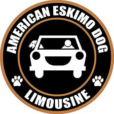"LIMOUSINE AMERICAN ESKIMO DOG 5"" STICKER"