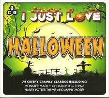 I JUST LOVE HALLOWEEN NEW 3 CDSET Monster Mash, Harry Potter Theme & More
