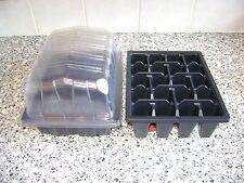 30 metà dimensioni Plastica Seme Vassoi & 30 Chiaro propagatore Tops & 30 X 20 vassoi cella