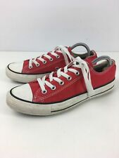 UNISEX CONVERSE ALL STAR UK 7 RED LACE UP LOW TOP PUMPS TRAINERS SNEAKERS SHOES