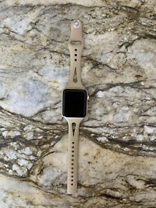 Apple Watch Series 1 42mm Gold Aluminum Smart Watch -Used Great Condition, Works