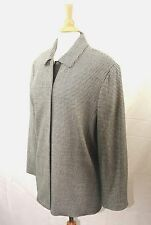 Jones New York Black & White Houndstooth Print Jacket Size  XXL Career Wear