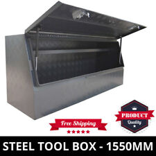 Steel Toolbox 1550mm Checker Plate Ute Tool Box Industrial ToolBox One Tonner