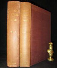 PRIMITIVE CULTURE Taylor 1920 MYTHOLOGY Occult RELIGION History 2V SET Antique