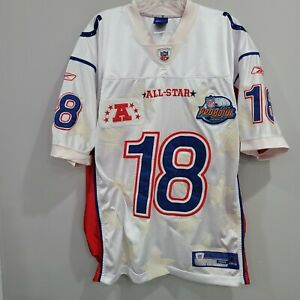 2004 Reebok Authentic NFL Colts Peyton Manning 18 Pro Bowl Jersey Mens 48 XL
