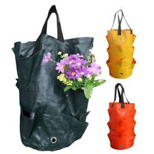 3 Gallon PE Strawberry Planter grow Bag Plant pots Garden wall Hanging supplies