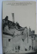 Postcard. La Guerre 1914-18. Carte Postale. St. Remi street after the bombardmen