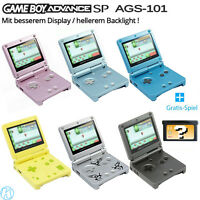 GBA SP AGS-101 / Nintendo GameBoy Advance SP Konsole + GRATIS Spiel