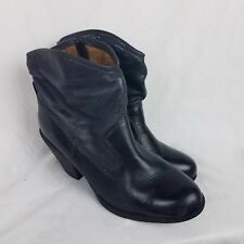 Montana Boots size 10M Black Leather Womens ankle heels 4201501