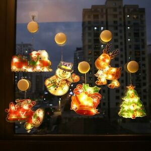 Christmas Pattern LED Fairy String Light Lamp Home Decorations W/suction Cup