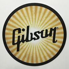 "Gibson Guitar Worn Sunburst 7"" Tin Sign"