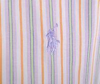 Men's RALPH LAUREN Cotton Striped Light Purple Long Sleeve Casual Shirt Size S