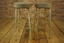 60er Vintage Barhocker Industrie Loft Thonet Hocker Stuhl Stahlrohr 50er 1/7