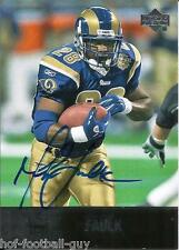 RARE MARSHALL FAULK SIGNED 2008 UPPER DECK ULTIMATE COLLECTION FOOTBALL~HOF AUTO