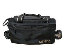 Vintage Minolta Camera Bag With shoulder Strap DSLR Camcorder Kit padded Padded