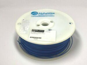 Alpha Wire 1856/19 BL001 Hook-Up Wire 1000' Ft Spool 20 AWG Blue PVC Insulated