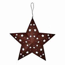 "Primitive Americana RUSTIC BARN STAR with MULTI-SIZE STAR CUTOUTS 17"" TIN"