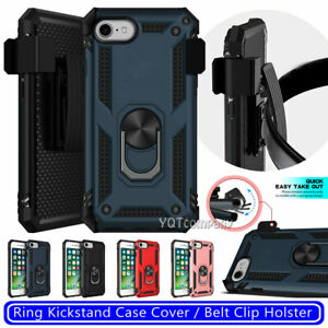 For iPhone SE 2020 6 6s 7 8 Plus Shockproof Protective Ring Kickstand Case Cover