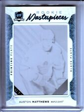 2016-17 The Cup Printing Plates SP Game Used Black Auston Matthews RC 1/1