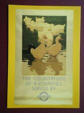 POSTCARD LONDON TRANSPORT POSTER - 1933 COUNTRYSIDE OF 8 COUNTIES SERVED BY BUS
