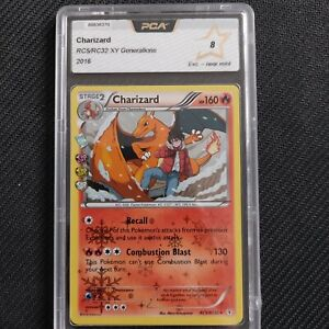 Charizard holo rc5/rc32 xy generations radiant collection pca 8  , psa?