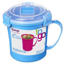 Sistema Klip It Microwave Soup Mug 656ml Work School College Lunch Snack 21107