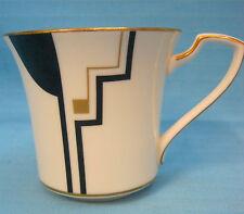 Noritake Portfolio Fine China Cup Mug Black Gold White #7736