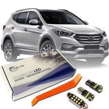 Hyundai Santa Fe LED Interior Premium Kit Full 8 SMD Bulbs White Error Free