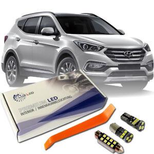 Hyundai Santa Fe LED Interior Premium Kit Full 8 SMD Bulbs White Error Free