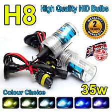 H8 10,000k 10k HID LAMPADINE 35w Replacment AC Xenon base in metallo PER FARI UK Venditore