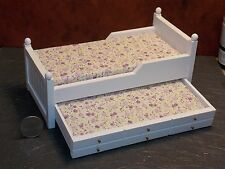Dollhouse Miniature White Trundle Bed 1:12 one inch scale K19 Dollys Gallery