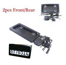 2x Car Flip License Plate Frame Number Shift Turn Off Shutter US Type w/ Remote