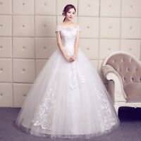 2019 Latest Designs Plus Size off Shoulder Lvory Wedding Dress Bridal Gown