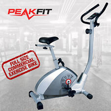 PeakFit PF625 New Upright Exercise Bike Magnetic Resistance Home Gym Fitness